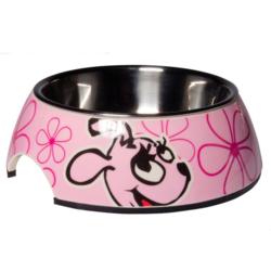 Rogz миска для щенков 2в1 Bubble Bowlz, цвет розовый
