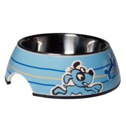 Rogz миска для щенков 2в1 Bubble Bowlz, цвет голубой