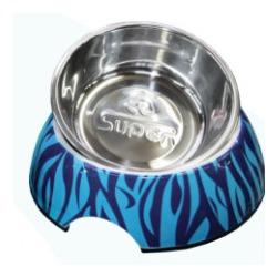 СКИДКА! Superdesign миска меламиновая Зебра, голубая