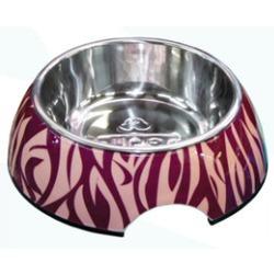 СКИДКА! Superdesign миска меламиновая Зебра, розовая