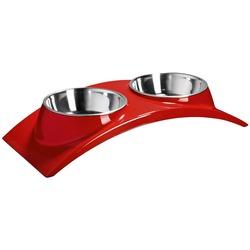 Superdesign миска меламиновая двойная красная, 2х160 мл