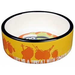 Trixie Миска керамическая Shaun the Sheep, 0.3 л х ф 12 см, оранжевая, арт.25040