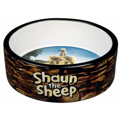 Trixie Миска керамическая Shaun the Sheep, 0.3 л/ф 12 см, коричневая, арт.25046