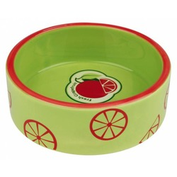 Trixie Миска керамическая Fresh Fruits, 0.3 л/ф 12 см, светло-зеленая, арт.25102