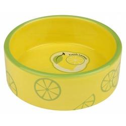 Trixie Миска керамическая Fresh Fruits, 0.8 л/ф 16 см, желтая, арт.25105