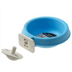 V.I.Pet Миска пластиковая навесная на универсальном крепеже, 300 мл