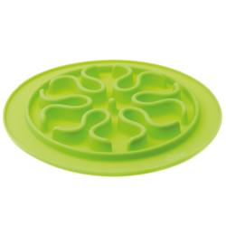 V.I.Pet Миска силиконовая рельефная (волны) для медленного поедания корма (САЛАТОВАЯ) 24см