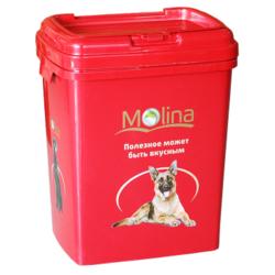Molina контейнер для хранения сухого корма, цвет красный, на 15 кг сухого корма
