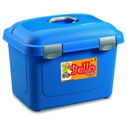 Stefanplast контейнер для хранения сухого корма Bello, цвет синий, объем 26 литров