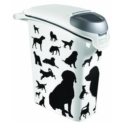 "Curver Контейнер ""Собаки"" черно-белый, на 10 кг корма"
