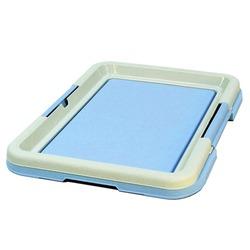 СКИДКА 20%! Туалет для собак (для пеленок) , цвет голубой с бежевым