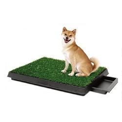 """Pet Potty туалет для собак с покрытием """"Травка"""" и выдвижным лотком, 63х51х6 см."""