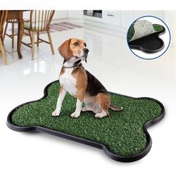 """Pet Potty Bone Shape туалет для собак с покрытием """"Травка"""", в виде косточки, 68х43 см"""