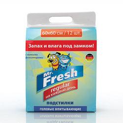 Mr.Fresh Regular гелевые впитывающие пеленки с липкими фиксаторами