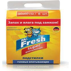 Mr.Fresh Super гелевые пеленки повышенной впитываемости