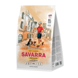 Savarra PUPPY HOLISTIC Гипоаллергенный корм для щенков всех пород (индейка/рис)