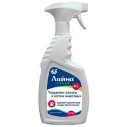 """Лайна-МС спрей """"Пихта"""" для устранения запахов и меток и удаления различных видов загрязнений, 750 мл."""
