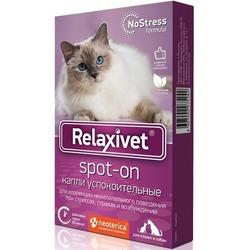 Relaxivet капли на холку Spot on успокоительные для собак и кошек, 4 пипетки (Релаксивет)