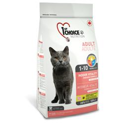 1st Choice корм для взрослых кошек от 1 года до 10 лет, с курицей, VITALITY INDOOR