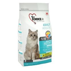 1st Choice корм для здоровой кожи и шерсти кошек, с лососем, Healthy Skin&Coat