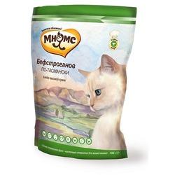 Мнямс корм для взрослых кошек Бефстроганов по-тасмански (с мясом страуса)