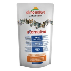 Almo Nature Alternative Chicken and Rice для кошек со свежим цыпленком, 55% мяса, 750 гр.