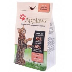 """Applaws беззерновой корм для кошек """"Курица и Лосось/Овощи: 80/20%"""", Dry Cat Chicken & Salmon"""