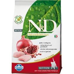 FARMINA N&D беззерновой корм для котят Курица с Гранатом (N&D Cat Chicken & Pomegranate Kitten)