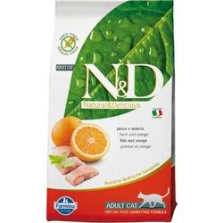 FARMINA N&D беззерновой корм для кошек Рыба с Апельсином (N&D Cat Fish & Orange Adult)