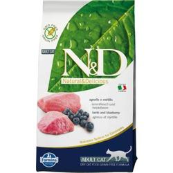FARMINA N&D беззерновой корм д/кошек Ягненок с Черникой (N&D Cat Lamb & Blueberry Adult)