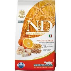 FARMINA N&D LG корм д/кошек всех пород Треска с Апельсином (N&D Low Grain Cat Codfish & Orange)