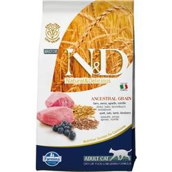 FARMINA N&D LG корм д/кошек всех пород Ягненок с Черникой (N&D Low Grain Cat Lamb & Blueberry)