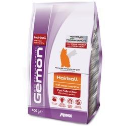 Gemon Cat Hairball корм для выведение шерсти для взрослых кошек с курицей и рисом 400 гр.