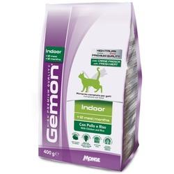 Gemon Cat Indoor корм для домашних кошек с курицей и рисом 400 гр.