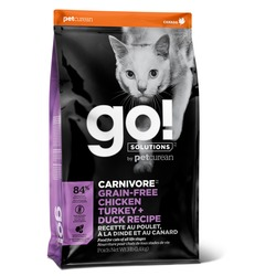 Go Natural holistic Беззерновой 4 вида мяса: курица, индейка, утка и лосось для котят и кошек(Fit + Free Grain Free Chicken, Turkey, Duck Cat Recipe 48/18)