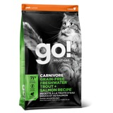 Go! Natural holistic Беззерновой сухой корм: Форель, лосось для котят и кошек с чувств.пищеварением (Sensitivity + Shine Grain Free Freshwater Trout&Salmon Cat Recipe 48/18)