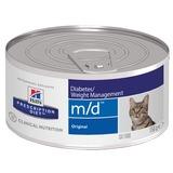 Hill`s M/D диетический влажный корм для кошек- лечение сахарного диабета, нарушения обмена веществ, ожирения, с печенью, rescription Diet Feline m/d with Liver