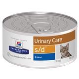 Hill`s S/D диетический влажный корм для кошек- лечение МКБ, струвиты, с печенью, Prescription Diet Feline s/d Canned Food