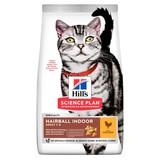 Hill's сухой корм для вывода шерсти из желудка, с курицей, Science Plan Feline Adult Hairball Control Chicken