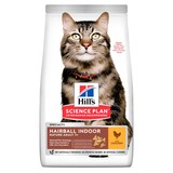 Hill's сухой корм для вывода шерсти из желудка, для кошек старше 7 лет с курицей, Feline Senior 7+ Hairball Control Chicken