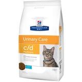 Hills C/D диетический сухой корм для кошек-профилактика МКБ с океанической рыбой Multicare Feline Reduced Calorie with Fish