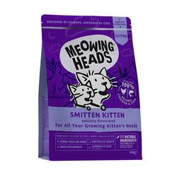 "Корм Meowing Heads для котят, с курицей и рисом ""Восторженный котенок"", Smitten Kitten"