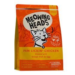 """Корм Meowing Heads для взрослых кошек, с курицей и рисом """"Куриное наслаждение"""", Paw Lickin' Chicken"""