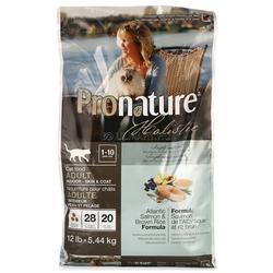 Pronature holistic для взрослых кошек живущих в помещении, для здоровья кожи и шерсти, лосось с рисом.