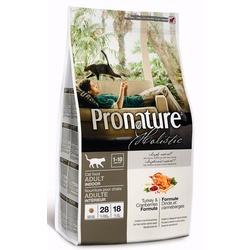 Pronature holistic для взрослых кошек живущих в помещении, индейка с клюквой
