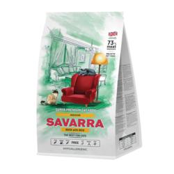 Savarra INDOOR CAT HOLISTIC Гипоаллергенный корм для взрослых кошек, живущих в помещении (утка/рис)