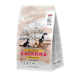 Savarra LIGHT/STERILIZED CAT HOLISTIC Гипоаллергенный корм для взрослых кошек с избыточным весом и стерилизованных (индейка/рис)