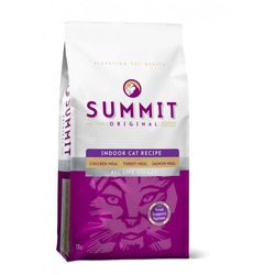 Summit holistic Для котят и кошек три вида мяса с цыпленком, лососем и индейкой, Original 3 Meat, Indoor Cat Recipe CF