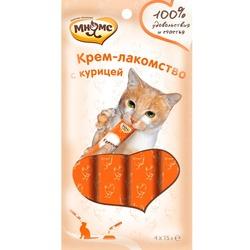 Мнямс Крем-лакомство для кошек с курицей