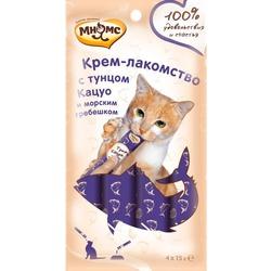 Мнямс Крем-лакомство для кошек с тунцом Кацуо и морским гребешком
